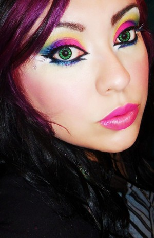 i very colorful look