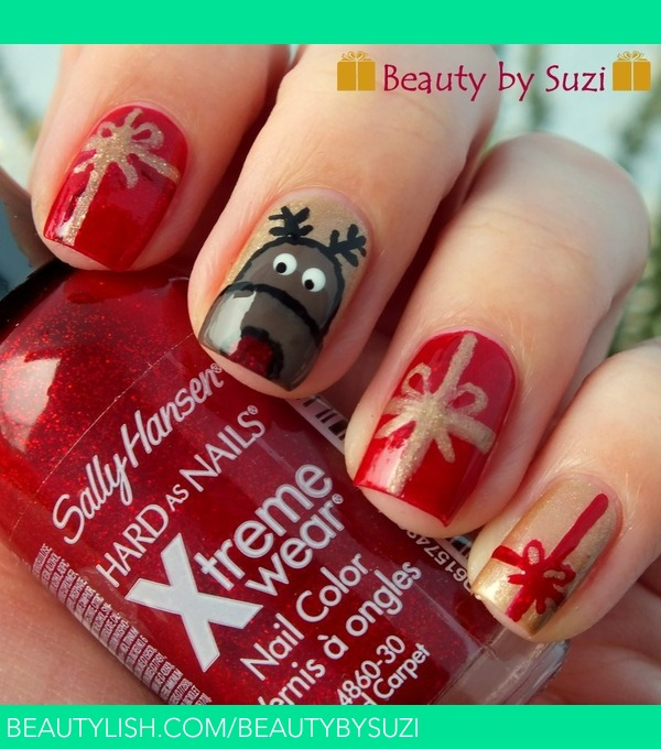 Christmas nail art reindeer with presents suzi vs used nail polishes gabriella salvete nail care calcium 17 nail polish mini nail art gallery sphinx sally hansen xtreme wear 390 red carpet prinsesfo Gallery