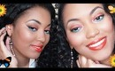 ☼Bold & Fun Summer Makeup☼ Orange Eyes, Cheeks, & Lips