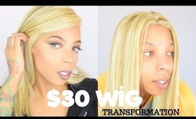 $30 Blonde Wig Transformation *Must See