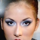 Silver and Black Make up