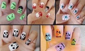 Five Cute & Easy Halloween Nail Tutorials!