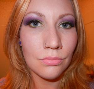 Purple & Green Color Blocking