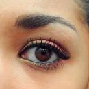 Makeup with eyeshadow Inglot