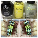 Two Tone Dotted Nails - Tutorial on YouTube at Dearnatural62