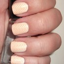 Orange Zig-Zag Nails