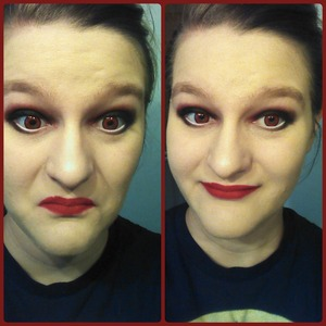 I would really like to wear this everyday, but my work wouldn't love it. Lol I'm going to try different color combos like yellow&black in the future! This is my first time doing a smokey eye, so I'll be practicing more!