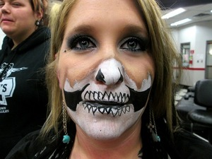 Halloween Face paint I Did for a model.