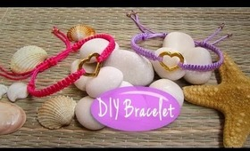 DIY Adorable Bracelet with a Heart Charm!