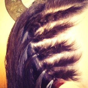 Braided my hair on the side