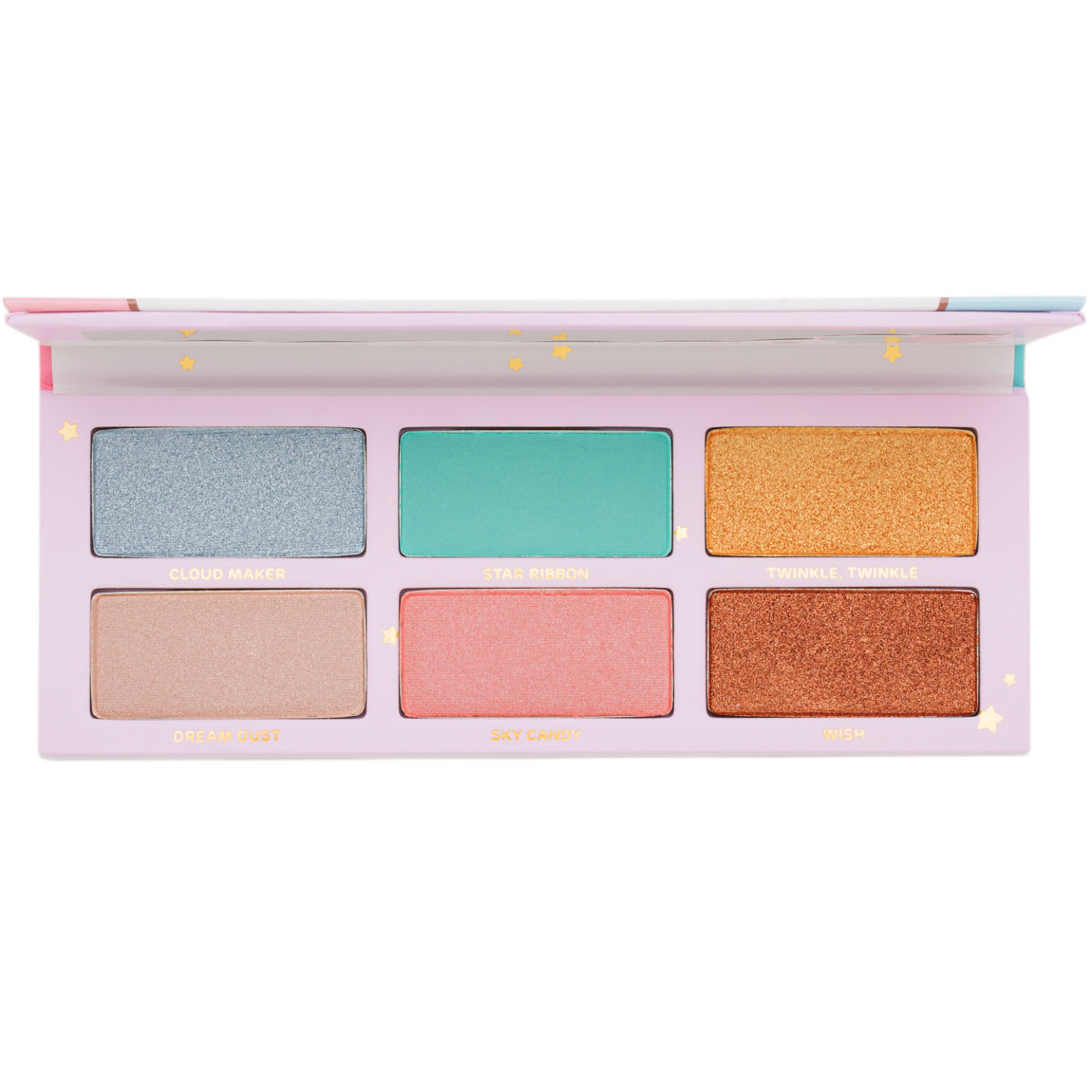 Sugarpill Cosmetics Little Twin Stars Palette product smear.