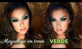 Maquillaje en VERDE / GREEM makeup tutorial  auroramakeup