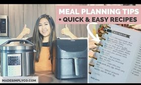 How-to Meal Plan Your Week + My Favorite Cooking Appliances!