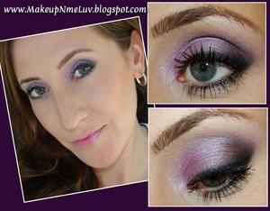 Daytime Purple Smokey Eye