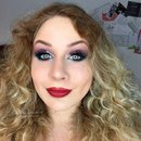 Fourth of July Glittery Red White & Blue WEARABLE Makeup Tutorial