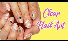 Clear Upcycled Cat Gel Nails | Vlogging Style ♡