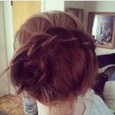 Inverse braid into a bun