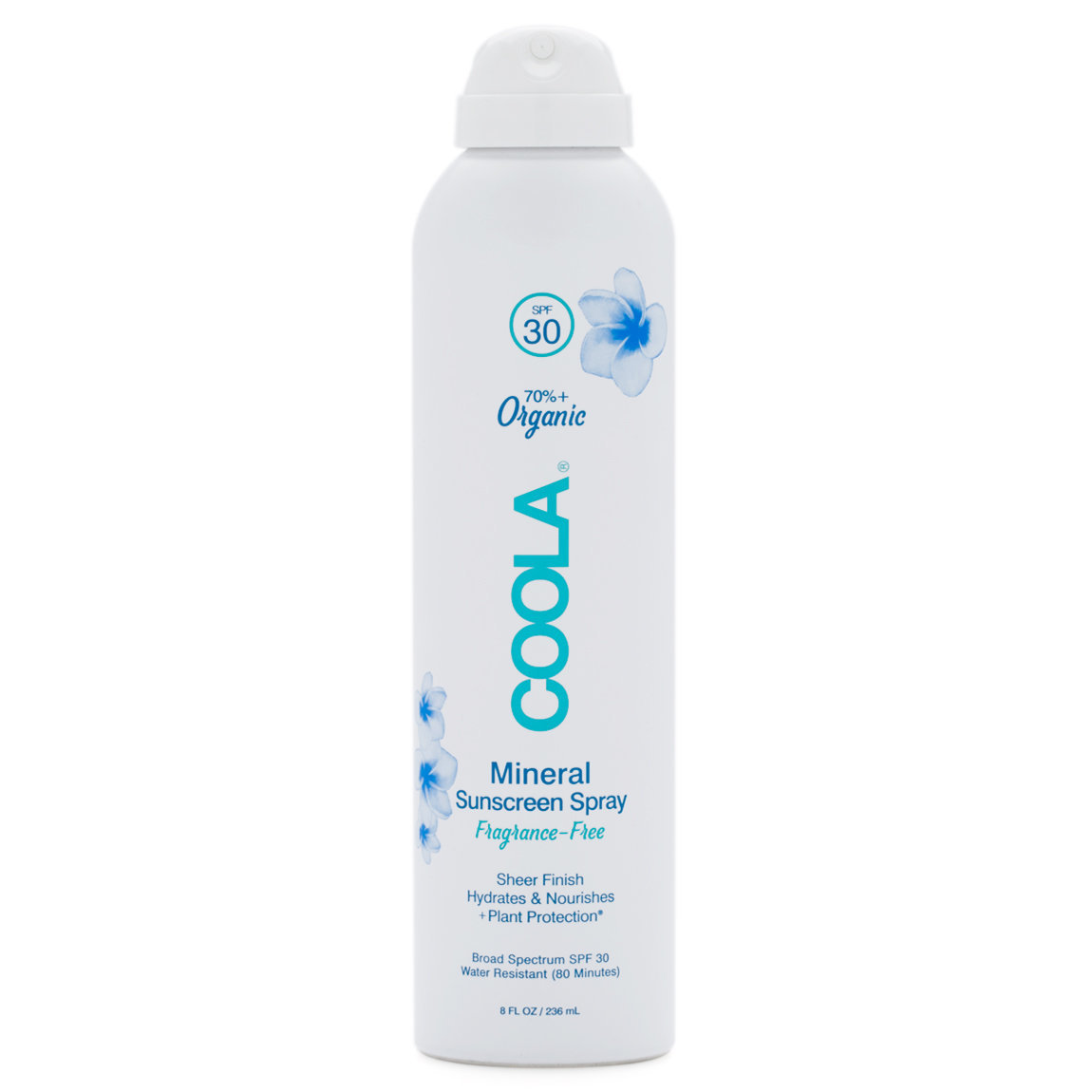 COOLA Mineral Body Sunscreen Spray SPF 30 product swatch.
