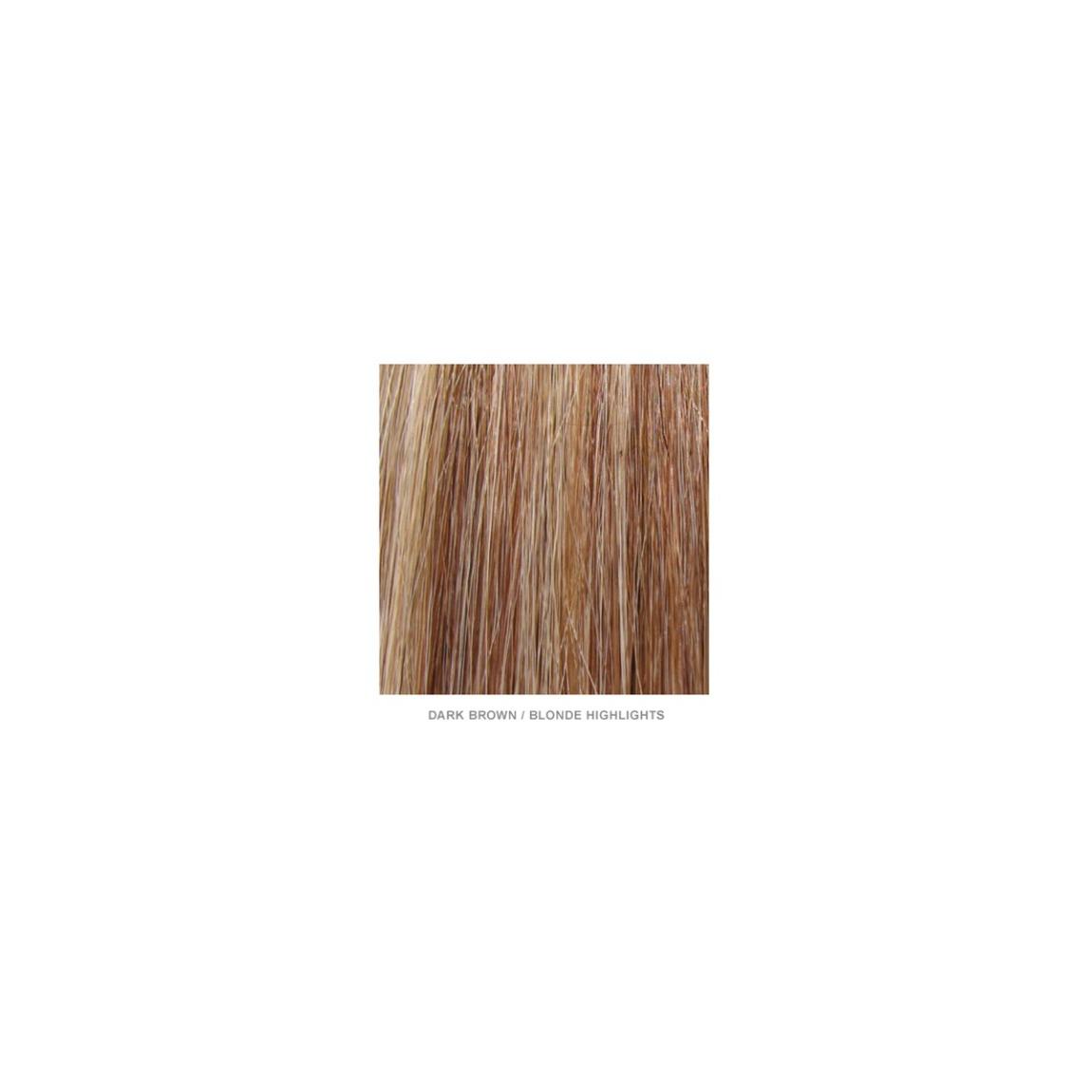 Amika 17 100 Human Hair Extensions Dark Brown Blonde Highlights