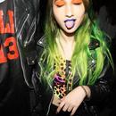 Socialite/Hair Muse Niki Takesh Stoner girl green