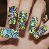 Invader Zim - Gir inspired nails