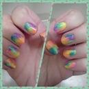 Lisa Frank tie dye neon rainbow