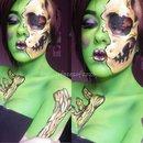 Cartoon zombie body art