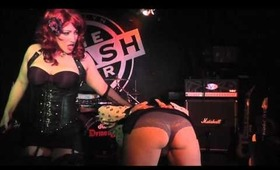 Lady Zombie & Heidee Nytes Perform at The Trash Bar - Jack O Slasher Release Party (12.15.13)