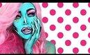 Cartoon Pop Art Painting Girl Makeup