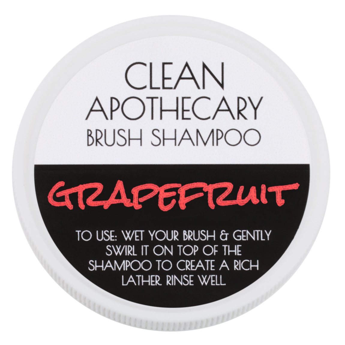 Clean Apothecary Brush Shampoo Grapefruit product smear.