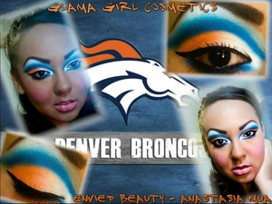 Look of the Week: Sports GO BRONCOS!!!!!!!! I ♥ my Denver Broncos so of course i picked them to do my look on!!!! I hope you guys like it!!! I used Glama Girl Cosmetics 120 palette http://www.glamagirlcosmetics.com/product-p/all-multi-palette-1.htm . Please go visit my Fan Page if you haven't already Anastasia MUA- Envied Beauty ♥ http://www.facebook.com/pages/Anastasia-Makeup-Artist/151454631576855?ref=hl