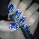 Pretty Denim Nails