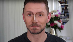How to contour a crooked nose