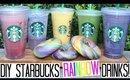 DIY Starbucks Rainbow Drinks! Easy & Healthy Alternatives