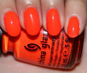 See more swatches & my review here: http://www.swatchandlearn.com/china-glaze-orange-knockout-swatches-review/