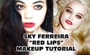 "Sky Ferreira ""Red Lips"" Makeup Tutorial"