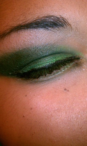 great green smoked out eye
