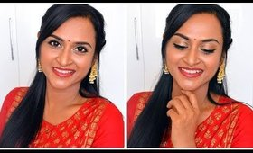 Simple Traditional Makeup Look   Easy Makeup Tutorial in Tamil