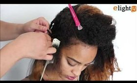 How to install xpression braiding hair | Elighty hair tutorial
