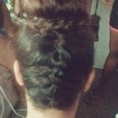 French Braid, High Bun