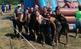 The Dangerous Babes at the LoziLu Mud Run NYC - 7/12/14