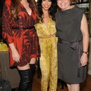 Khloé and Kourtney pose with Suzi Weiss-Fischmann, OPI Executive VP & Artistic Director