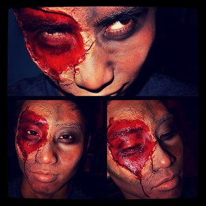 first zombie attempt. im getting prepared for halloween