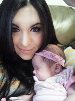 The mommy look! Me and my beautiful princess. :)