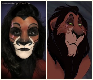 Here is a transformation where I turned myself into Scar - from Disney's The Lion King. Pin it. Tweet it. Share it!