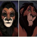Scar - Lion King- Makeup Transformation