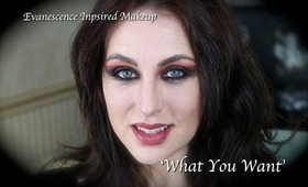Evanescence inspired makeup: Amy Lee in 'What You Want'