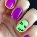 Bright Halloween Gelish Nails 2014