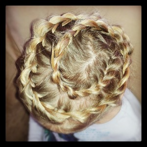 Spiral staircase braid....first time trying it out.
