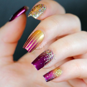 More info + tutorial here: http://www.lacquerstyle.com/2013/12/glamorous-mix-match-tutorial.html